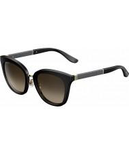 Jimmy Choo Ladies Fabry-s FA3 J6 óculos de sol reluzente preto