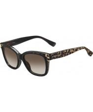 Jimmy Choo Senhoras bebi-s pue J6 óculos de sol pretos animais