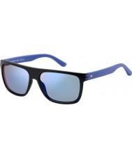 Tommy Hilfiger Mens th 1277-s fb1 23 óculos de sol azuis pretas