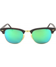 RayBan Rb3016 51 areia Clubmaster concha de tartaruga-de ouro 114519 óculos de sol espelho verdes