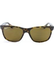 RayBan Rb4181 luz 57 highstreet concha de tartaruga 710-83 óculos polarizados