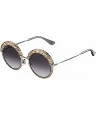 Jimmy Choo Senhoras Gotha-S 68i 9c 50 óculos de sol de paládio nus