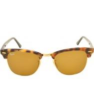 RayBan Rb3016 51 Clubmaster manchado marrom havana 1160 óculos de sol