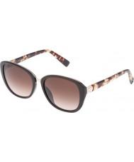 Furla Ladies faculdade su4905r-0d84 brilhantes óculos de sol marrons cheios