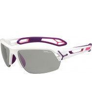 Cebe S-track médias brancos óculos de sol PERFO variochrom roxo