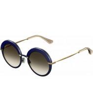 Jimmy Choo Senhoras gotha-s 3ue js azuis óculos de sol de ouro