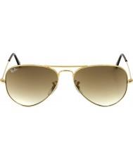 RayBan RB3025 58 aviador grande de metal ouro 001-51 óculos de sol
