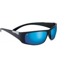 Serengeti Fasano preto brilhante polarizada phd 555nm óculos de sol azul espelho