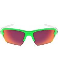 Oakley Oo9188-43 flak xl 2,0 desbotamento verde - óculos de campo PRIZM
