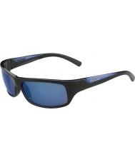 Bolle Ferozes pretas brilhantes azuis polarizadas óculos de sol azuis no mar