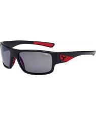 Cebe Sussurro preto fosco vermelho 1500 cinzentos de flash polarizada óculos de sol espelho