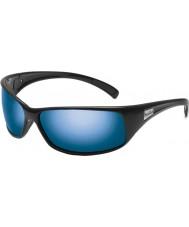 Bolle Recoil brilhantes pretas polarizadas óculos de sol azuis no mar