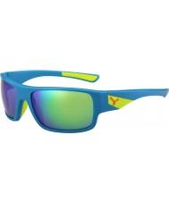 Cebe Sussurro mate azul cal 1500 espelho flash de cinza óculos de sol verdes