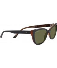 Serengeti Sophia preto brilhante óculos polarizados 555nm