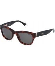 Zadig and Voltaire Senhoras szv051-09at brilhantes óculos de sol vermelhos havana