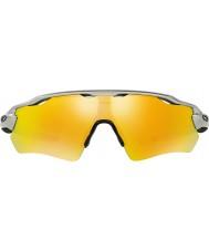 Oakley Oo9208-02 radar ev caminho de prata - óculos irídio fogo
