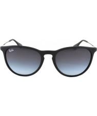RayBan Rb4171 borracha 54 Erika óculos 622-8g preto