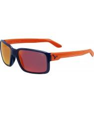 Cebe Gajo brilhantes óculos de sol azul laranja