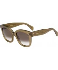Celine Ladies cl 41805-s qp4 Z3 óculos de sol verdes militares