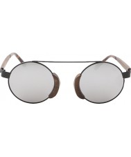 Swole Panda Morpheus marrom óculos de sol de bambu polarizada