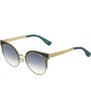 Jimmy Choo Ladies ORA-s psx u3 ouro militares óculos de sol verdes
