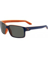 Cebe Cara de laranja fora azul nos óculos de sol