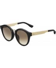 Jimmy Choo Ladies pepy-s qfe jd rosa negra óculos de sol de ouro