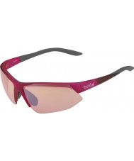 Bolle Breakaway modulador cinza-de-rosa brilhante aumentou óculos arma