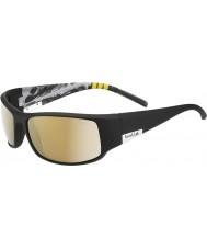 Bolle Rei da montanha preto brilhante polarizada ag-14 óculos de sol
