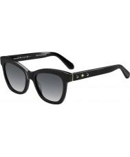 Kate Spade New York Senhoras Krissy-s 807 óculos de sol pretos f8