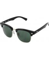 RayBan Junior Rj9050s 45 Clubmaster preto 100-71 óculos de sol