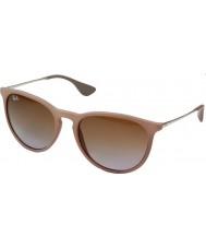 RayBan Rb4171 54 Erika areia borracha escura 600068 óculos de sol