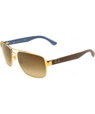 RayBan Rb3530 58 highstreet ouro 001-13 óculos de gradiente