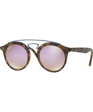 RayBan Rb4256 49 Gatsby óculos de sol espelho fosco havana 6266b0 lilás