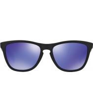 Oakley 24-298 Frogskins preto fosco - violeta óculos irídio