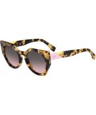 Fendi Facetas ff 0151-s 00f en manchado óculos de sol havana