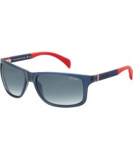 Tommy Hilfiger Th 1257-s 4nk jj óculos de sol vermelhos azuis