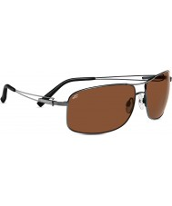 Serengeti Sassari gunmetal brilhante polarizada motoristas óculos de sol