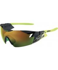 Bolle 6o sentido de fumaça mate óculos de sol esmeralda verde marrom