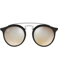 RayBan Rb4256 49 Gatsby preto fosco 6253b8 cinza óculos de sol espelho