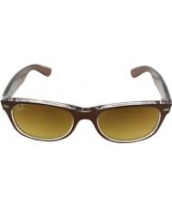 RayBan Rb2132 52 novo topo wayfarer escovado marrom em transparentes 614585 óculos de sol